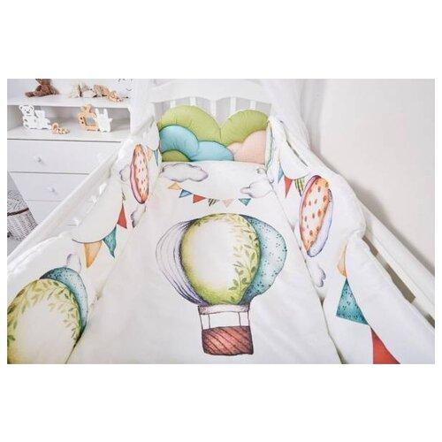 Фото - Топотушки Комплект в кроватку Воздушные шары (6 предметов) белый комплекты в кроватку топотушки соня 6 предметов