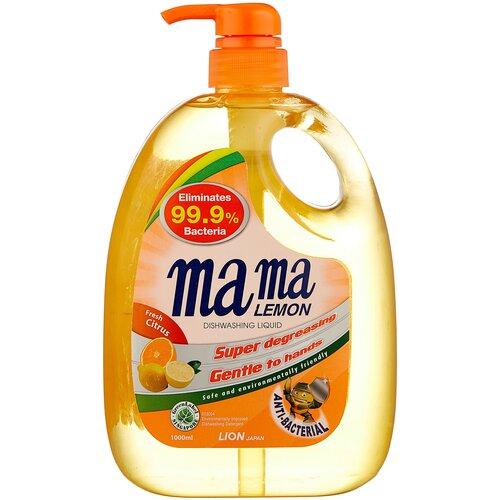 Mama Lemon Жидкость для мытья посуды Fresh citrus, 1 л гель для мытья посуды mama lemon лимон natural lemon fragrance 600 мл