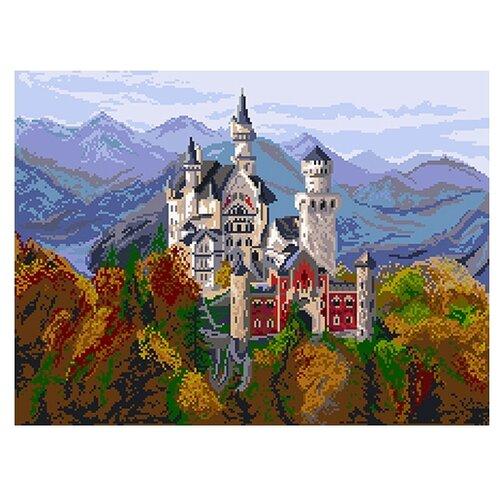 1898 Канва с рисунком Матренин посад 'Замок в Баварии'37х49 см.(30х40см)