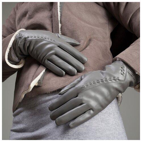 Перчатки жен, р-р8, 24*1*8см, диагональ, подклад иск мех, серый 1906238