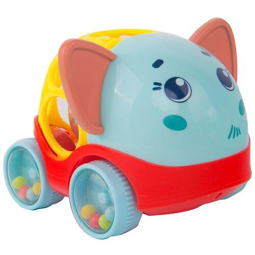 Купить Погремушка Happy Snail Машинка-погремушка Слоник Джамбо голубой/красный/желтый, Погремушки и прорезыватели