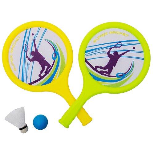 Игра Бадминтон детский 2 ракетки, мяч, воланчик пластиковый 900B в сетке