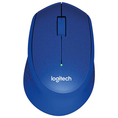 Беспроводная мышь Logitech M330 SILENT PLUS, синий