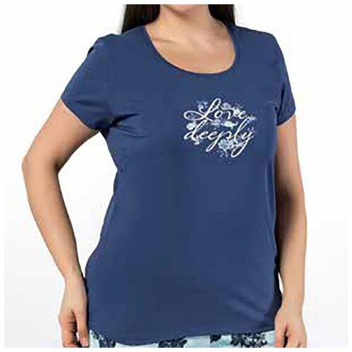 комплект домашний женский vienetta s secret цвет розовый 711026 5167 размер 3xl 54 Домашний костюм для женщин (батал) 24935 OZKAN, Размер: 3XL, Цвет: Синий, 1 шт. в упаковке