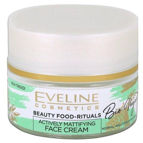 Eveline Cosmetics Bio vegan Активный матирующий крем для лица дневной-ночной, 50 мл крем для лица ночной eveline bio lifting восстанавливающий против морщин 75 мл