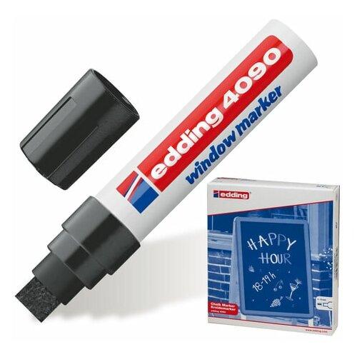 Фото - Маркер меловой EDDING 4090, 4-15 мм, ЧЕРНЫЙ, влагостираемый, для гладких поверхностей, Е-4090/1 150576 канцелярия edding маркер для окон e 4090 4 15 мм