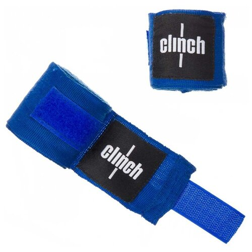 Кистевые бинты Clinch Boxing Crepe Bandage Punch 255 см синий