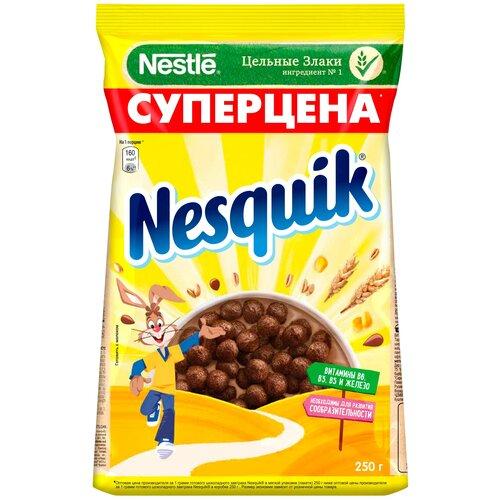 Фото - Готовый завтрак Nesquik шоколадные шарики, пакет, 250 г готовый завтрак хрутка шоколадные колечки пакет 210 г