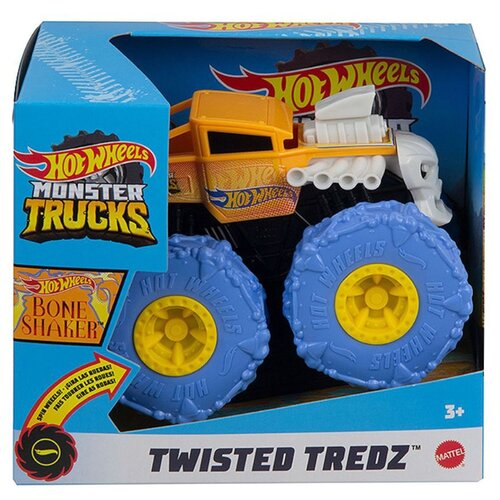 Купить Монстр-трак Hot Wheels Monster Trucks Bone Shaker 1:43 оранжевый/голубой, Машинки и техника