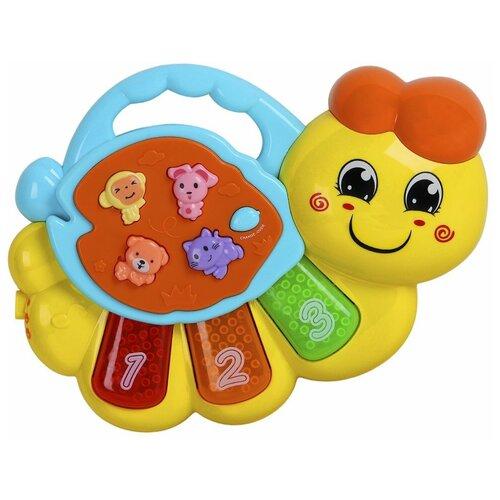 Фото - Интерактивная развивающая игрушка Smart Baby Гусеница JB0333408, желтый развивающая игрушка smart baby смартфончик jb0205580 желтый