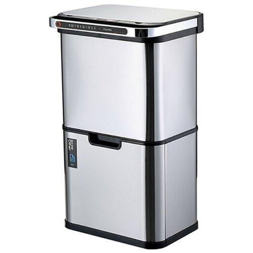 Ведро для раздельного сбора мусора, сенсор, 4 емкости, Foodatlas, JAH-8889, 50л (12+12+13+13) ведро для мусора держатель б полотенец foodatlas jah 543 6л белый