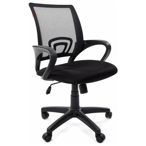 Компьютерное кресло Chairman 696 офисное, обивка: текстиль, цвет: черный / черный недорого