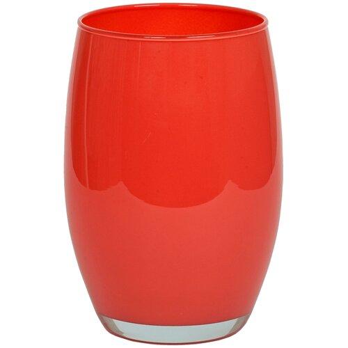 Ваза Solbika Галилео Coral Red 20 см