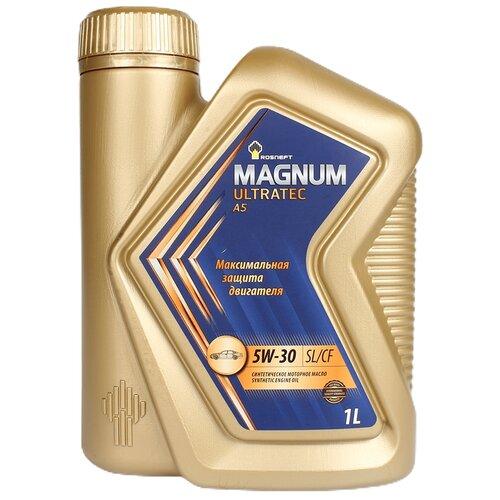 Синтетическое моторное масло Роснефть Magnum Ultratec A5 5W-30, 1 л