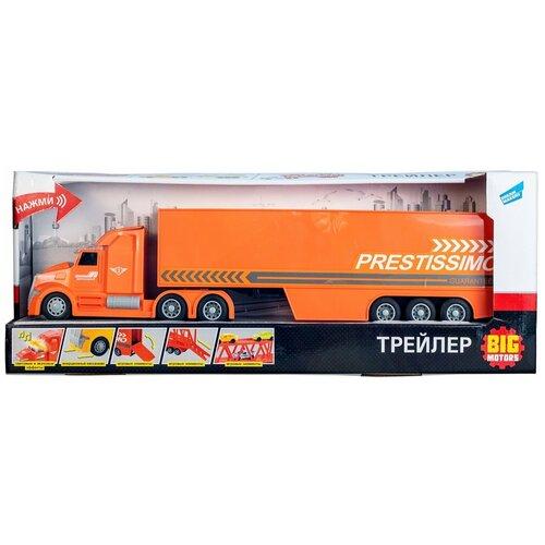 Трейлер с контейнером для перевозки грузов