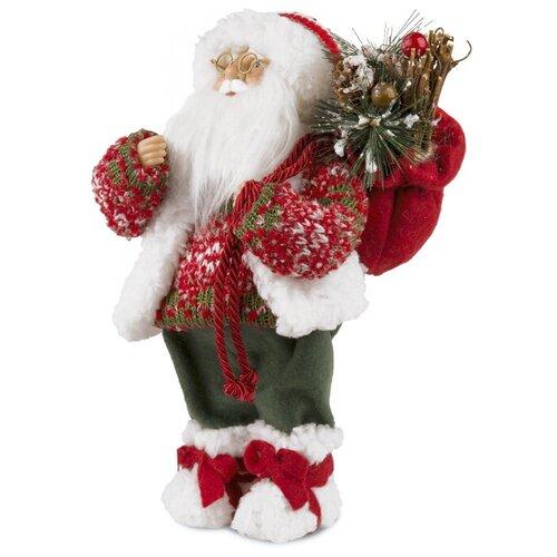 Фигурка Maxitoys Дед Мороз в свитере и шапке 46 см красный фигурка maxitoys дед мороз в свитере со снежинкой и лыжами 32 см белый