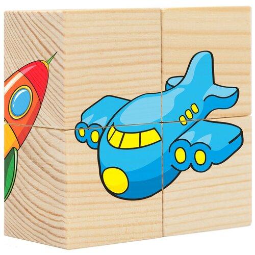 Купить Кубики-пазлы АНДАНТЕ Транспорт Д483а, Детские кубики