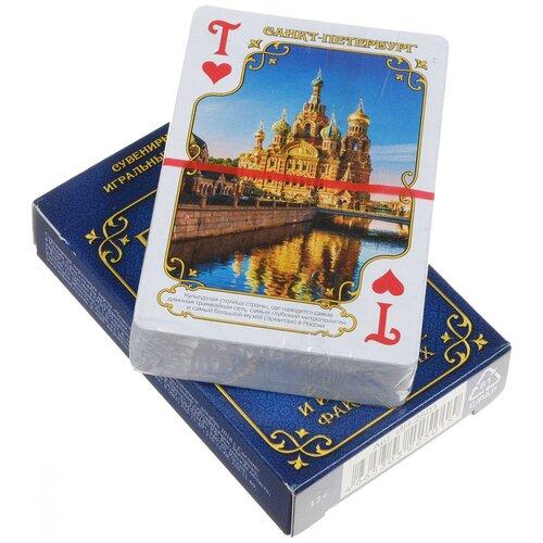 MILAND игральные карты Города России 54 шт. синий