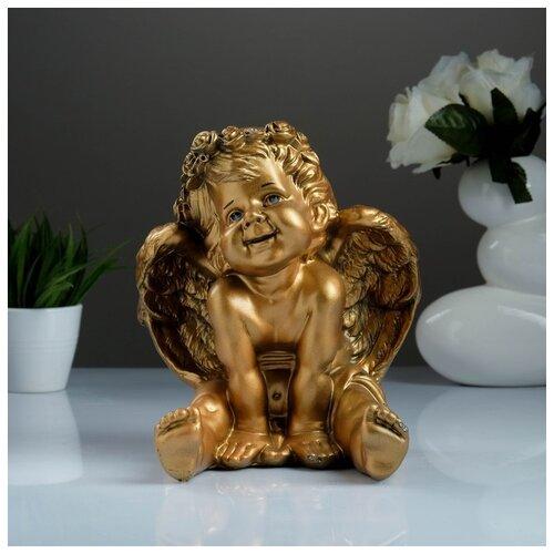 Фигура «Ангел карапуз сидя» бронза 19х22х24см 1858501 фигура ангел карапуз сидя состаренный 19х22х24см 1659374