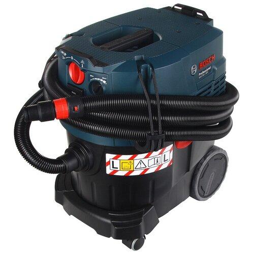Фото - Профессиональный пылесос BOSCH GAS 35 L AFC, 1380 Вт, синий/черный профессиональный пылесос karcher nt 40 1 ap l 1380 вт серый