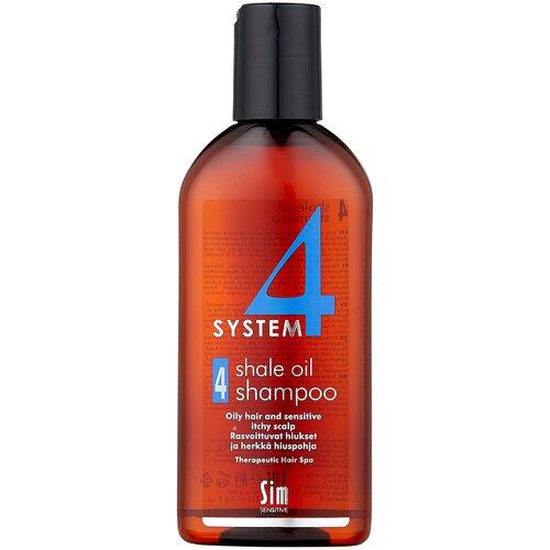 Фото - Sim Sensitive SYSTEM 4 Shale Oil Shampoo 4 Терапевтический шампунь № 4 для очень жирной, чувствительной и раздраженной кожи головы, 215 мл sim sensitive system 4 mild climbazole shampoo 3 терапевтический шампунь 3 для чувствительной кожи головы 100 мл