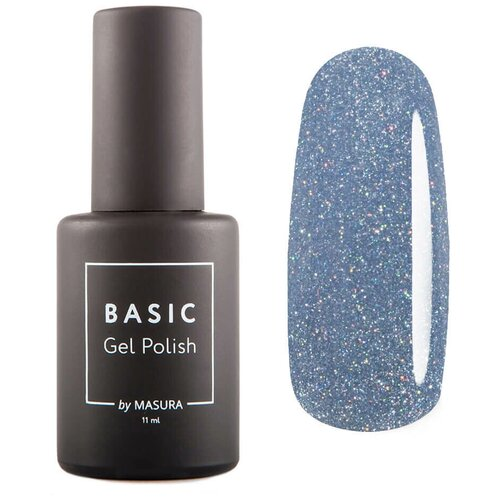 Гель-лак для ногтей Masura Basic, 11 мл, Синий Метеорит