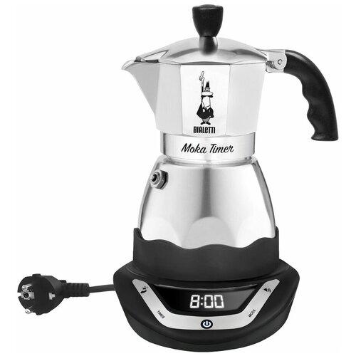 Гейзерная кофеварка электрическая Bialetti Moka Timer на 6 порций (6093)