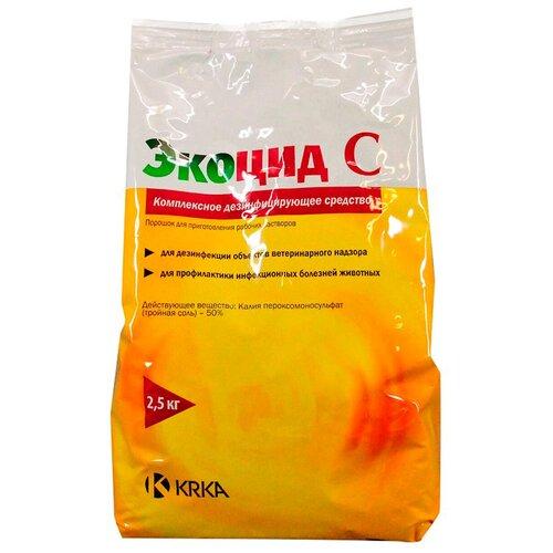 Фото - Средство Экоцид С дезинфицирующее средство 2,5 кг таблетки krka d d рикарфа 50 мг 20шт в уп
