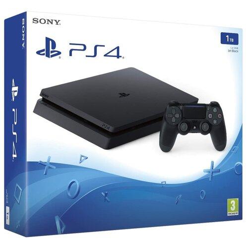 Игровая приставка Sony PlayStation 4 Slim 1 ТБ, черный,