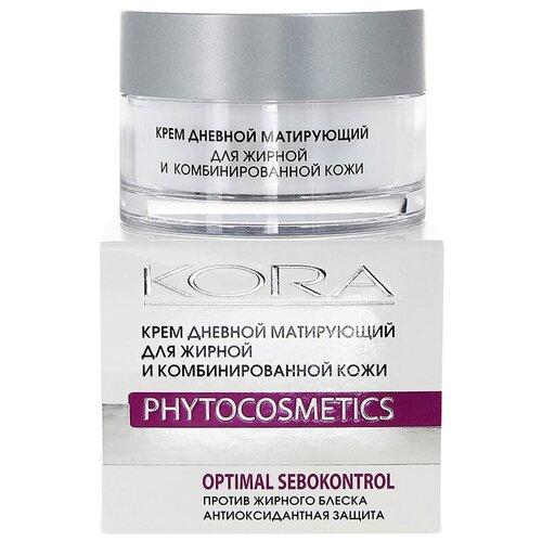 Kora Phytocosmetics Крем дневной матирующий для лица для жирной и комбинированной кожи, 50 мл kora phytocosmetics крем ночной биорегулятор для лица для жирной и комбинированной кожи 50 мл