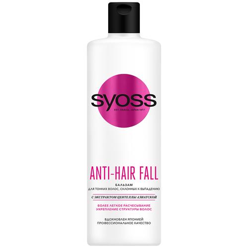 Фото - Syoss бальзам Anti-hair Fall Fiber Resist для тонких волос склонных к выпадению, 450 мл бальзам syoss anti hair fall fiber resist 95 для склонных к выпадению волос 500 мл