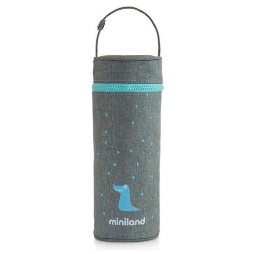 Чехол Miniland для Silky Thermos, 0.35 л серый/голубой