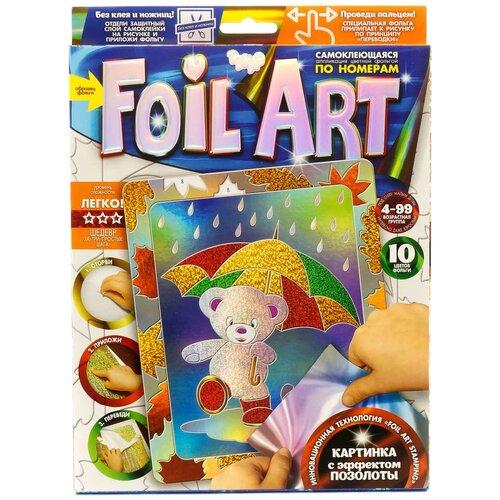 Danko Toys Аппликация цветной фольгой Foil Art по номерам Мишка (FAR-01-03) danko toys аппликация цветной фольгой foil art заяц far 01 07