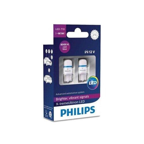 Фото - Лампа автомобильная светодиодная Philips X-tremeUltinon LED 127998000KX2 Т10 2 шт. лампа автомобильная светодиодная philips ultinon led 11972ulwx2 led hl [h7] 14w 2 шт