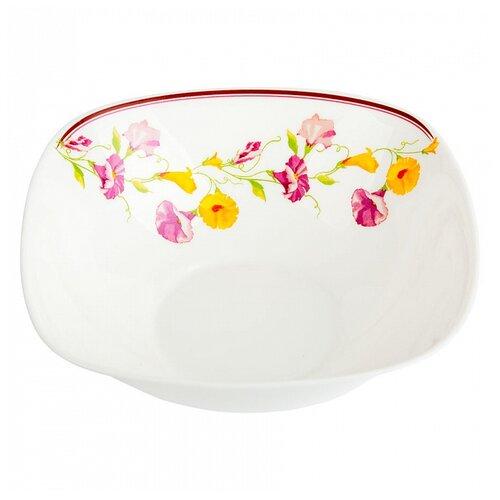 Фото - Салатник квадратный Полевые цветы 20,5*7см салатник teropal 0001d9 50 sk asti 21 5 см
