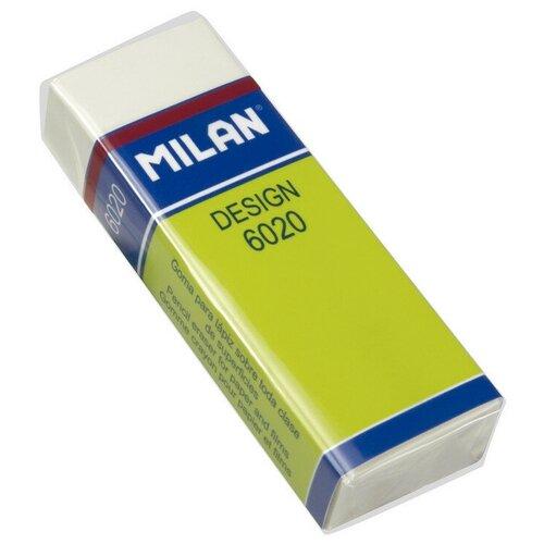 Купить Ластик пластиковый Milan 6020, белый, карт. держатель 3 штук, Ластики