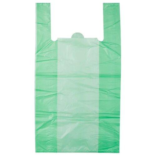Пакет-майка OfficeClean, ПНД, 28+14*50см, 12мкм, рулон на втулке, 200шт., зеленый пакет майка officeclean звёзды пнд 30х60 см 15 мкм белый 100 шт