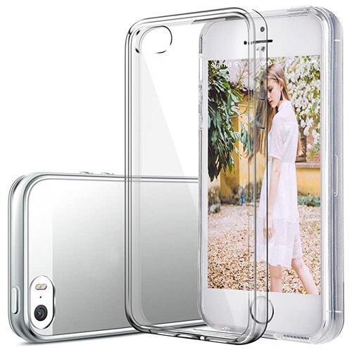 Прозрачный силиконовый чехол (накладка) для телефона Apple iPhone 5, iPhone 5S и iPhone SE / Тонкий чехол для смартфона Эппл Айфон 5, Айфон 5C и iPhone Эппл Айфон СЕ с протекцией от прилипания Premium