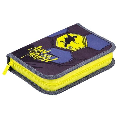 Berlingo Пенал Best player (PK06056) фиолетовый/желтый недорого