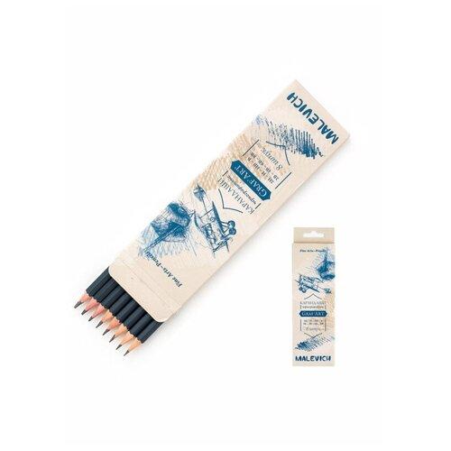 Купить Набор чернографитных карандашей Малевичъ GrafArt (8шт/уп), 197908, Карандаши
