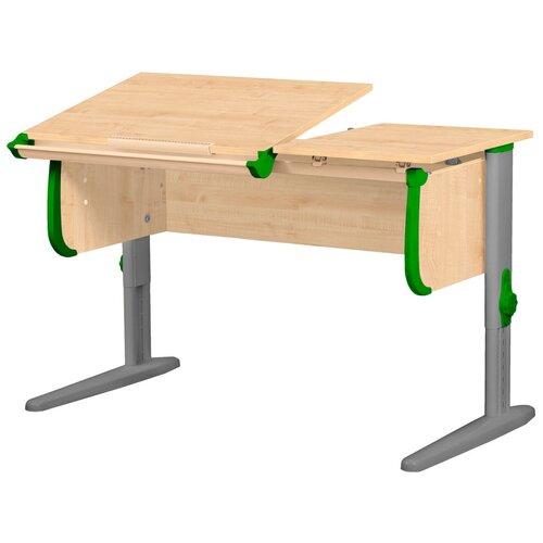 Фото - Стол детский ДЭМИ СУТ 25 120x55 см клен/зеленый/серый стол дэми white double сут 25 01д 120x82 см клен зеленый бежевый