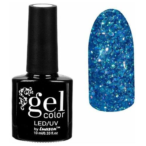 Фото - Гель-лак для ногтей Luazon Gel color Искрящийся бриллиант, 10 мл, 011 тёмно-голубой гель лак для ногтей luazon gel color termo 10 мл а2 076 пурпурный перламутровый
