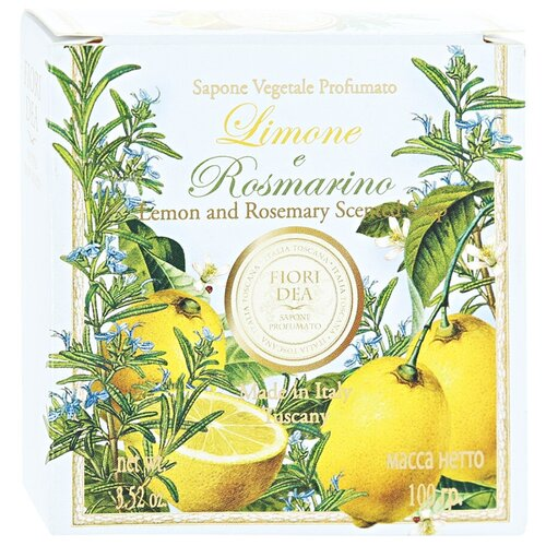 Мыло кусковое Fiori Dea Limone e rosmarino, 100 г