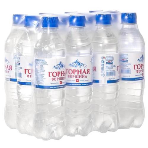 Минеральная питьевая вода Горная вершина негазированная, ПЭТ, 12 шт. по 0.5 л вода питьевая горная вершина негазированная 1 5 л