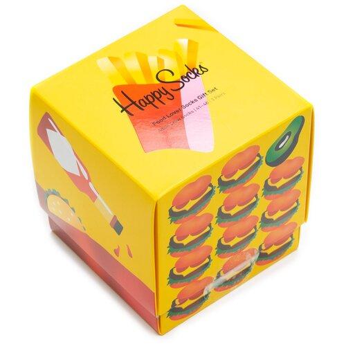 Комплект носков Happy Socks из трёх пар с различными узорами в подарочной упаковке Happy Socks 3 Pair Pack - Food 36-40