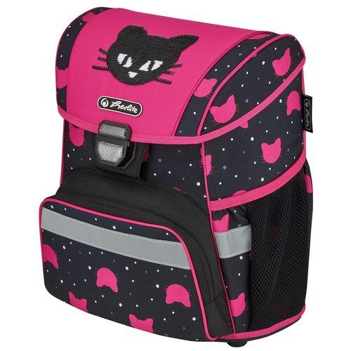 Купить Ранец школьный Herlitz Loop Black Cat, Кот, розовый, Рюкзаки, ранцы