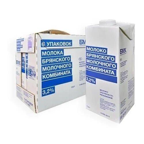 Молоко Брянский Молочный Комбинат ультрапастеризованное 3.2%, 6 шт. по 0.975 л