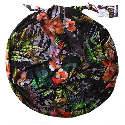 Шарф женский весенний, шёлк, вискоза, разноцветный, двойной шарф-долька Оланж Ассорти серия Апрель с узелками