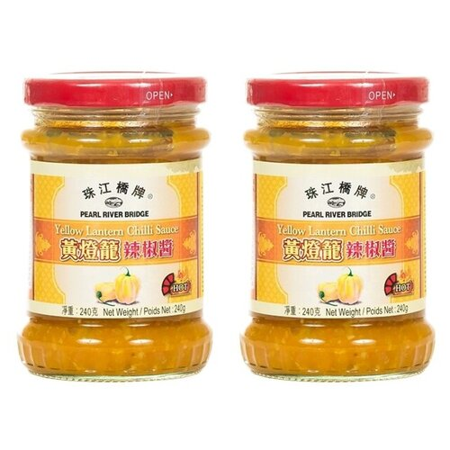 Соус Pearl River Bridge Yellow lantern chilli, 240 г 2 шт. соус чили pearl river bridge yellow lantern 240 г