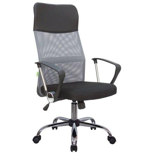 Компьютерное кресло Рива 8074 офисное, обивка: текстиль/искусственная кожа, цвет: серый компьютерное кресло рива 8074 офисное обивка текстиль искусственная кожа цвет оранжевый